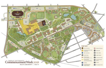 Rowan University Campus Map Maps & Directions | Commencement | Rowan University Rowan University Campus Map