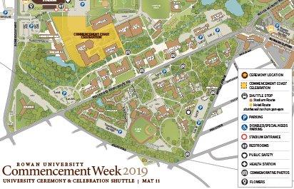 map of rowan university campus Maps Directions Commencement Rowan University map of rowan university campus