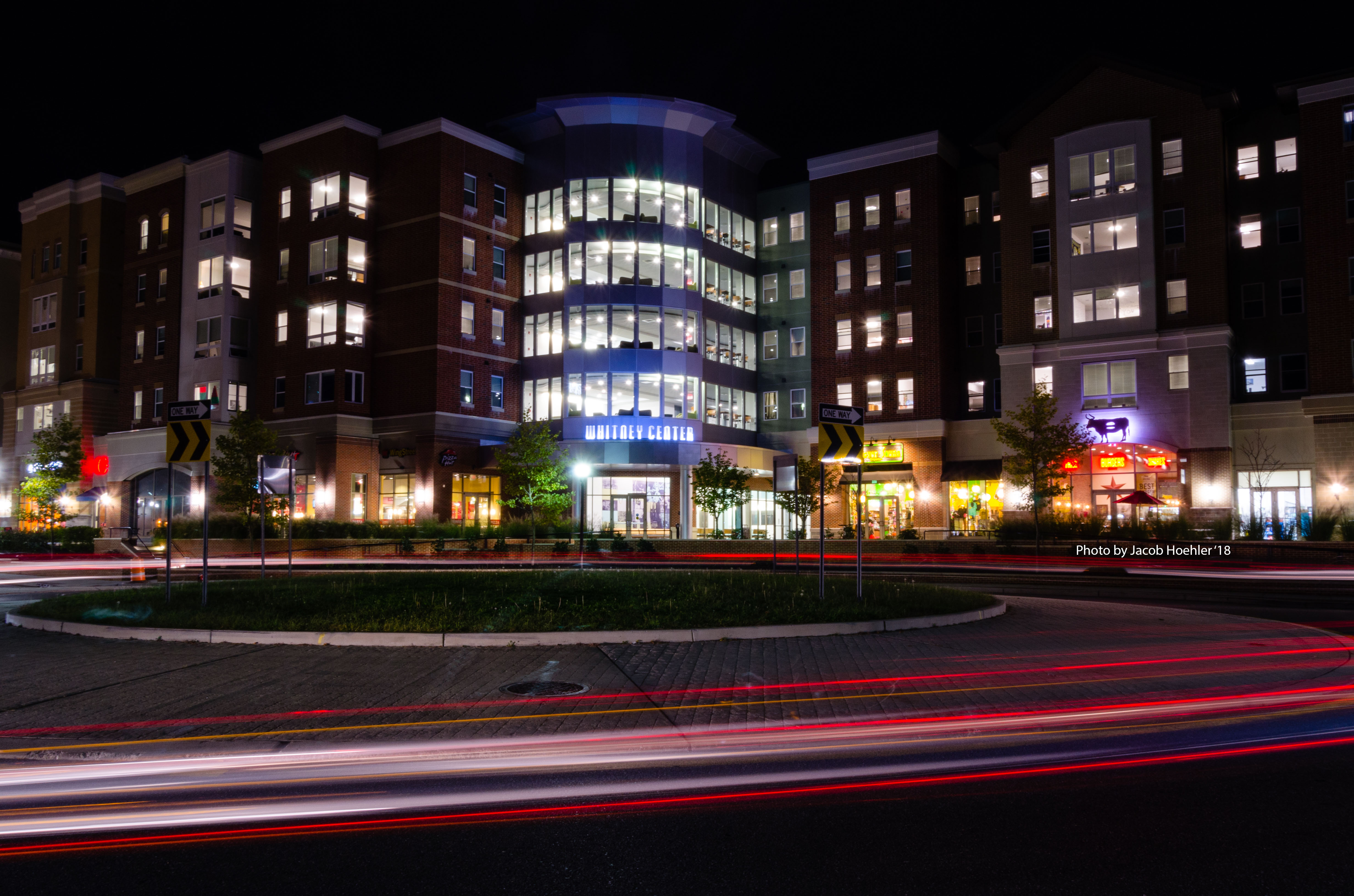 Whitney at night rowan university